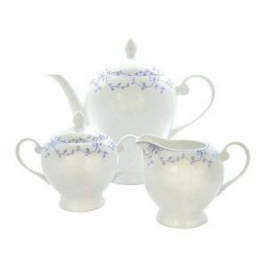 Blue Leaf Collection 3 Piece Tea Set