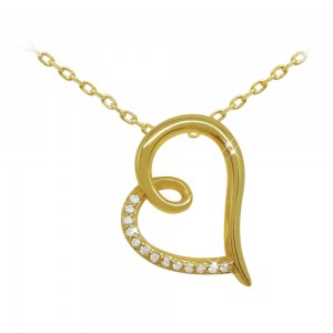 Gold Heart Shape Pendant