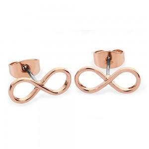 Simple Infinity Stud Earrings Rose Gold