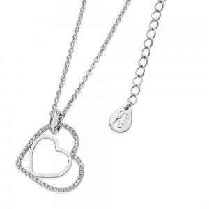 Floating Heart Pendant Silver