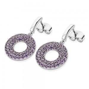 Lavendar Hollow Moon Earrings