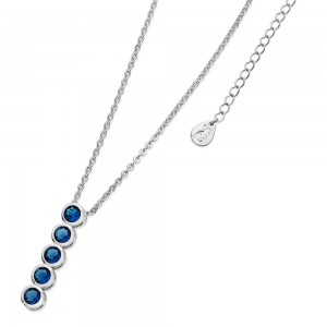 Blue Icicle Pendant Silver