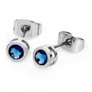 Blue Icicle Earrings Silver