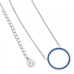 Ice Blue Moon Pendant Silver
