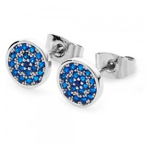 Blue Orbiting Moon Earrings Silver