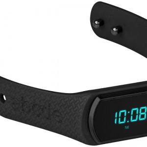 Field activity tracker watch, black
