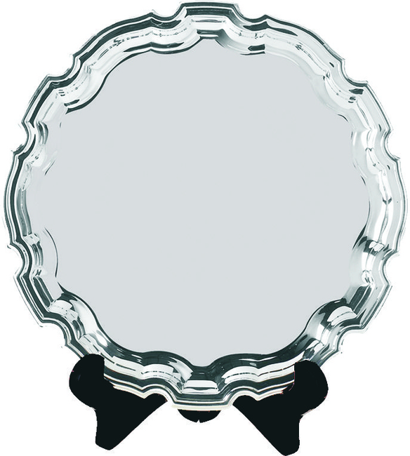 """12"""" Swatkins EPNS Chippendale Salver in satin lined gift box"""