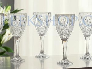 Galway Abbey Set of 6 Wine Glasses
