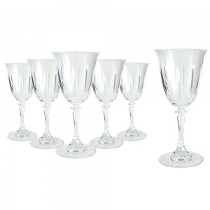 Tranquility Set of 6 Wine Glasses in Hat Box