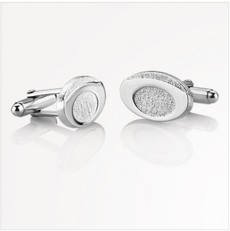 Oval Etched Cufflinks