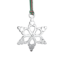 Snowflake Decoration Clear Stone