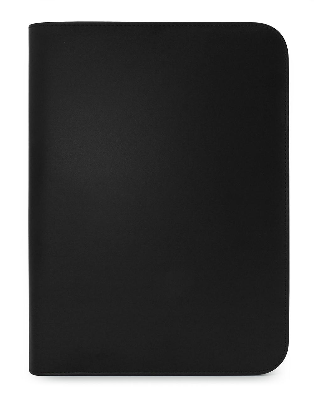 Clapham PU A4 Zipped Conference Folder with logo
