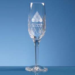 180ml Blenheim Lead Crystal Panel Champagne Flute