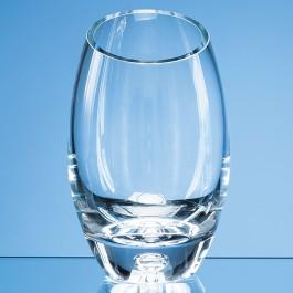 24cm Handmade Bubble Base Oval Vase