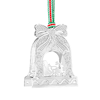 Bell with Santa on Sleigh Decor