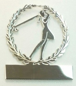 Sterling Silver Ladies & gents Golf brooch