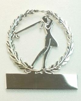 Sterling Silver Ladies & gents Golf brooch