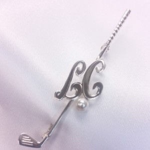 Sterling Silver Lady Captain golf brooch