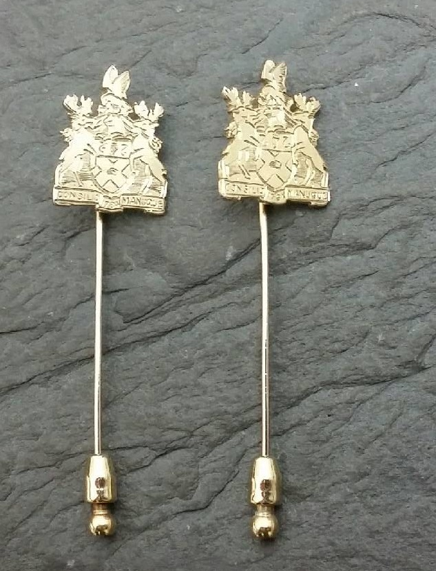 Sterling Silver Gilt Pins