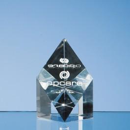7.5cm Optical Crystal Sloping Diamond