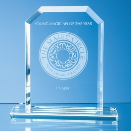 20cm x 15cm x 12mm Jade Glass Bevelled Edge Honour Award