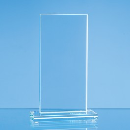24cm x 9.5cm x 12mm Jade Glass Tall Rectangle Award