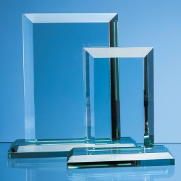 20cm x 15cm x 19mm Jade Glass Mitred Rectangle Award