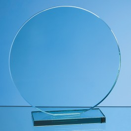 20cm x 12mm Jade Glass Circle Award