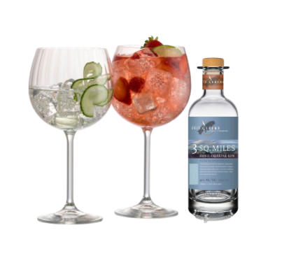 Galway Living Erne Gin and Tonic Pair and 3 Sq. Miles Irish Coastal Gin 10cl